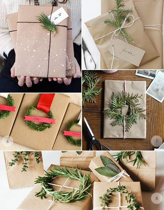 Brown paper gift wrapping at  My Paradissi