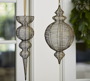 Hanging Wire Outdoor Ornaments by  Pottery Barn
