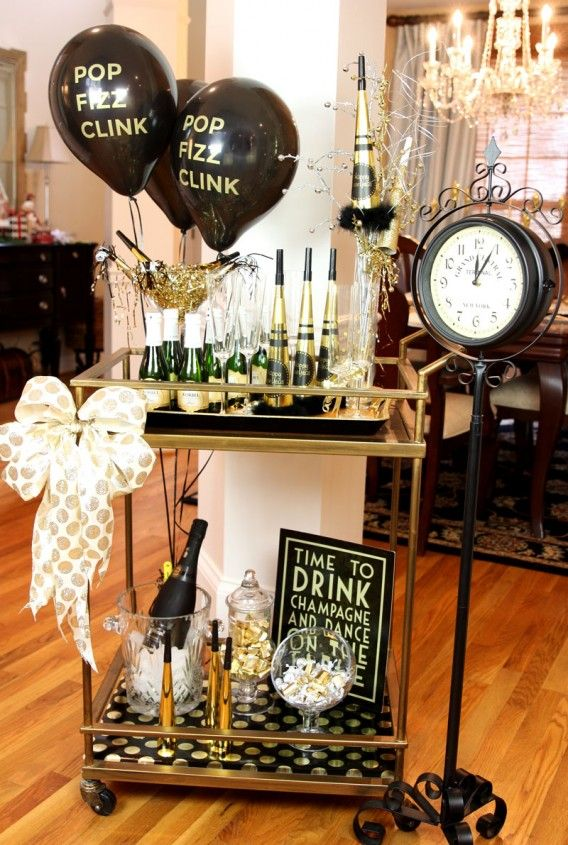 Fun NYE bar cart at  For Rent