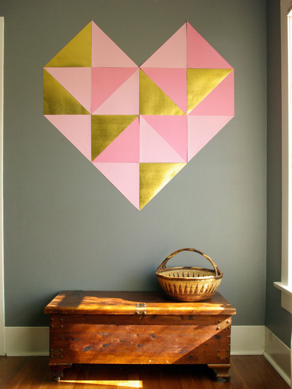 Giant Geometric Wall Art by  Oleander & Palm  - I already have the paper cut out, just need to put it up!