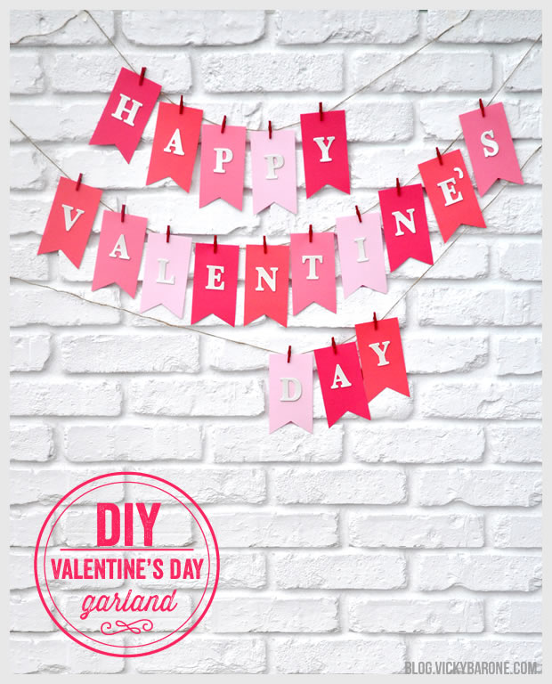 VDay Garland by  Vicky Barone