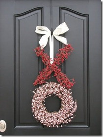 This XO Wreath is on  Etsy , or a DIY version on  Emerald City Diaries