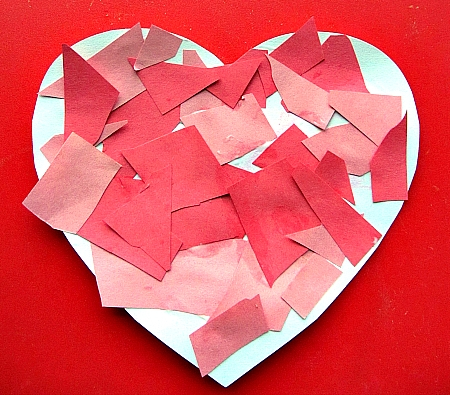Valentine Mosaic Heart at  No Time for Flashcards