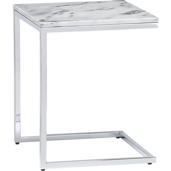 Marble top table at  CB2