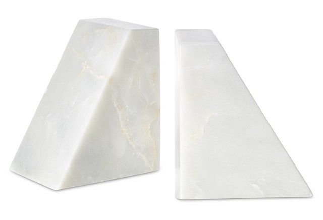 Marble Bookends from  One Kings Lane