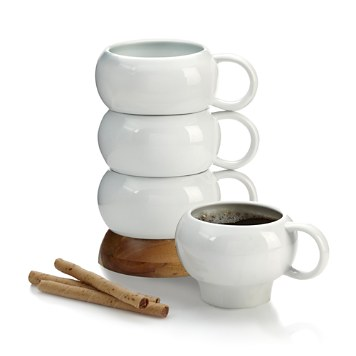 Nambe Bulbo  Stackable Mugs - only the most amazing looking stackable mugs I've ever seen!