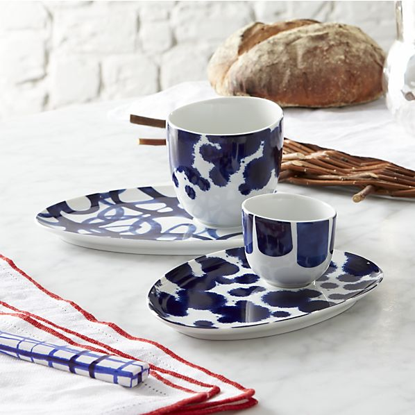 Como Cups and Saucers  from Crate and Barrel