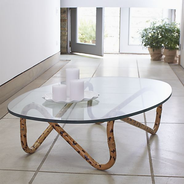 Indigo Rattan Coffee Table  at Crate and Barrel