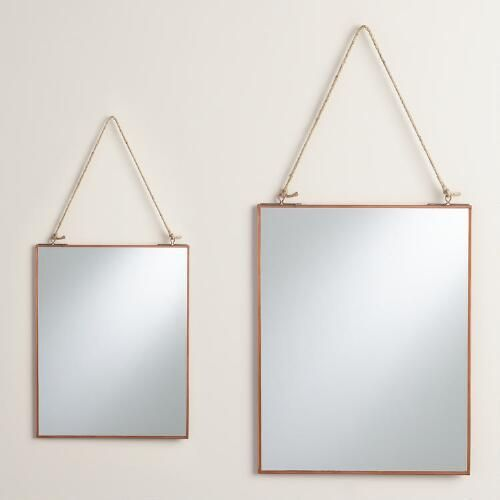 World Market's  Copper Reese Mirror
