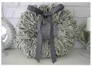Linen Wreath from  Beautiful Nest  - am I going crazy with wreaths?!