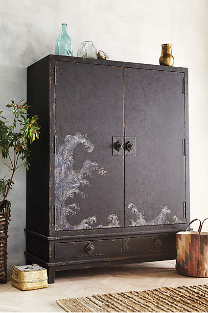 Nami Armoire  - the Japanese inspired waves are perfect