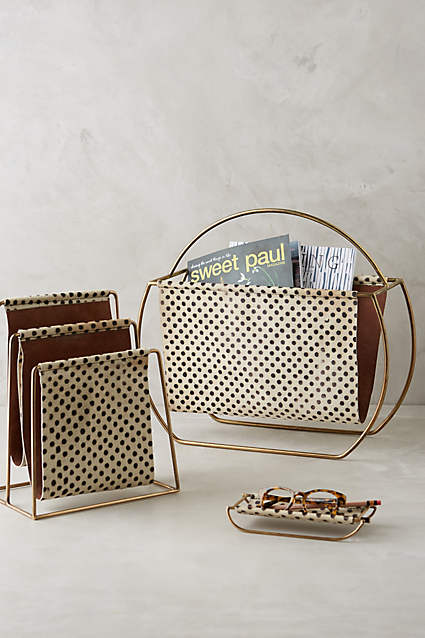 Saddle Ring Desk Collection  - who doesn't love leather and polka dots?!