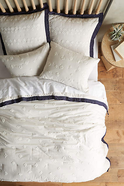 Nebuta Coverlet  - I love the clean, crispness of white