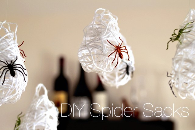 DIY Spider Sacks  from Modern Parents Messy Kids