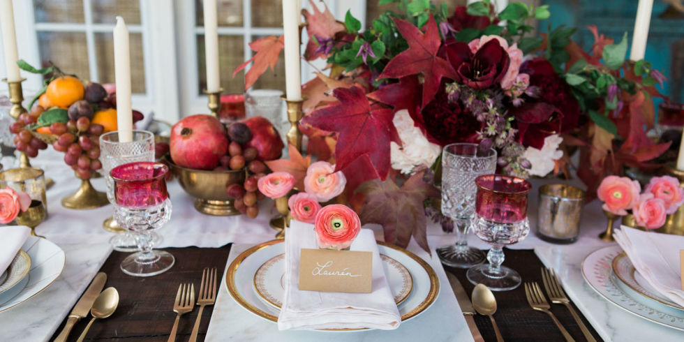 The ultimate romantic Thanksgiving via  Elle Decor