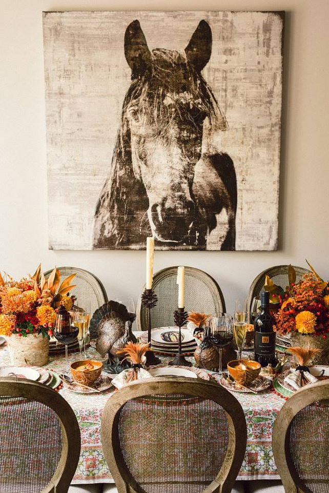 Horses at Thanksgiving? Yes! via  Home Bunch