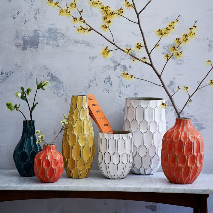 Linework shoulder vases at  West Elm