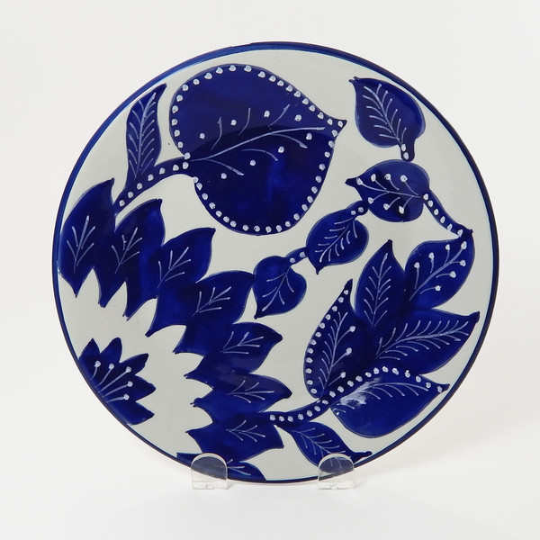 Hand painted Tunisian dinner plate from  Artisan Connect