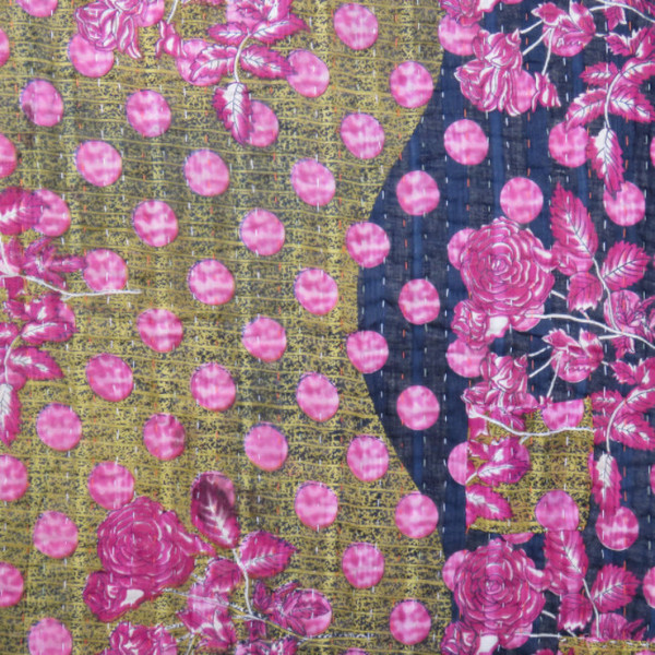 Kantha cotton throw from Bangladesh on  Artisan Connect