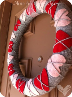 Another holiday, another wreath. I just can't stop myself!  Source