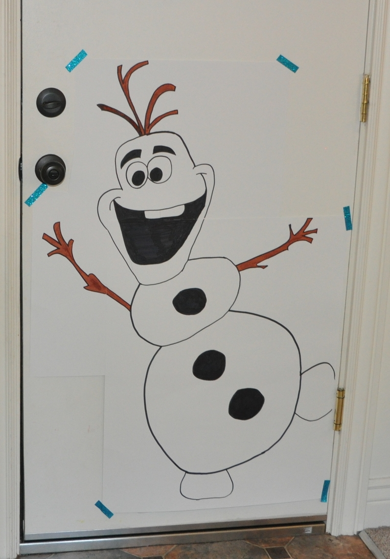 My free-hand Olaf, a little cross eyed