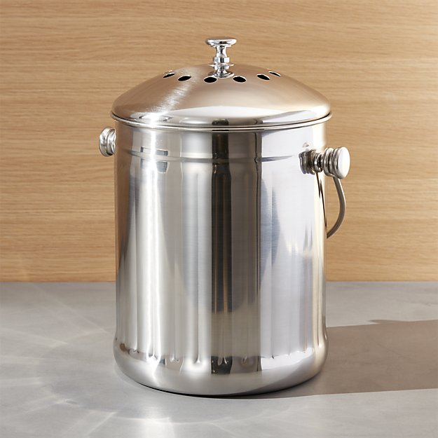 Stainless Steel Compost Pail  from Crate and Barrel