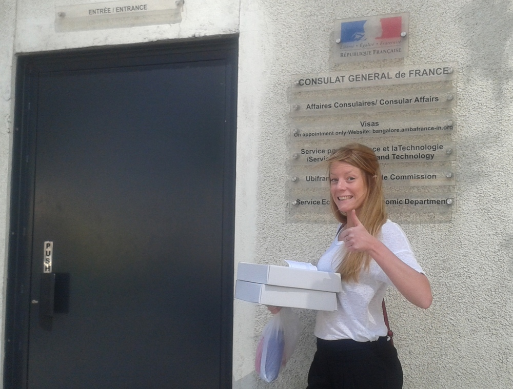 Delivering the French Consulate