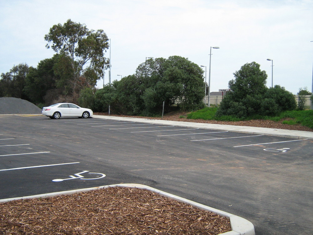 Parafield train station and car park