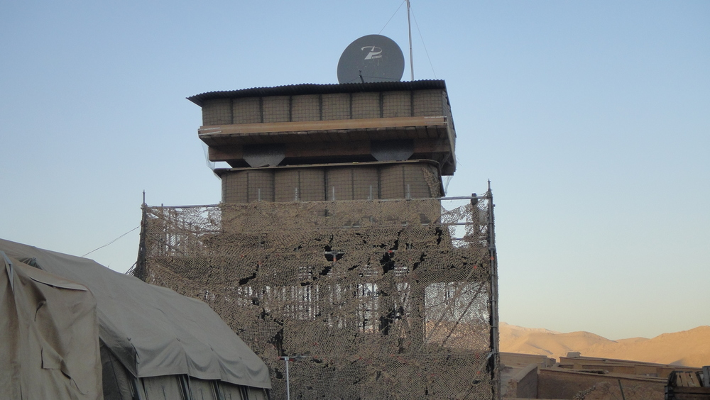 Afghanistan observation tower