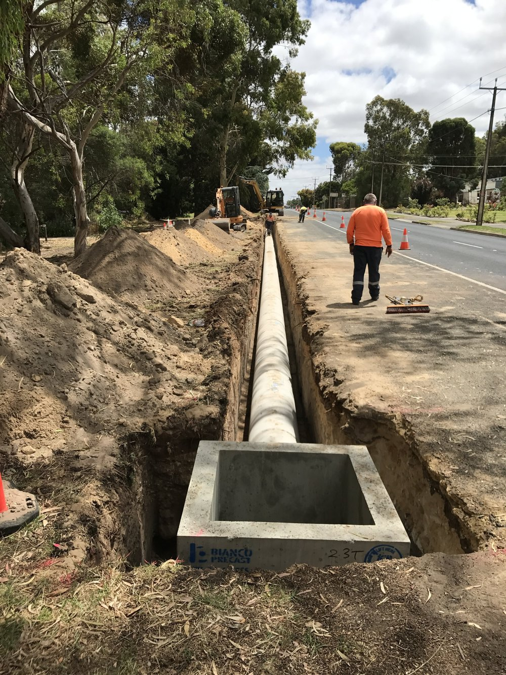 Drainage replacement at Naracoorte