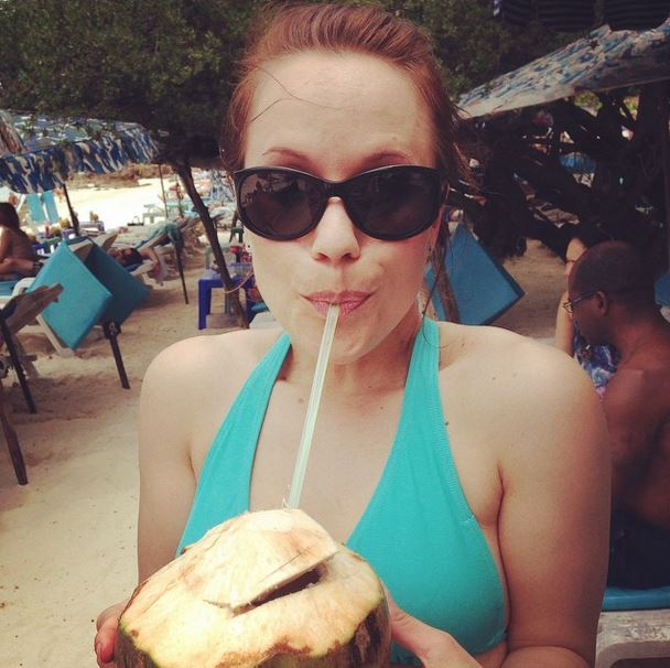 Fresh coconut water on Koh Larn