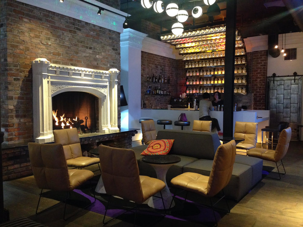 The character-filled boutique Hotel Zeppelin, near Union Square, has a great lounge for guests and the public to enjoy a coffee, wifi and a read by the fire for the cooler days.