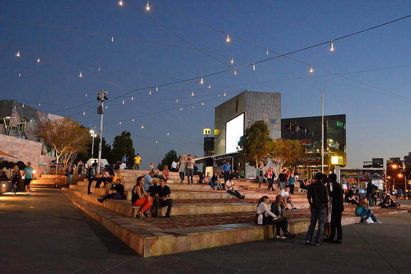 Federation Square, Melbourne.  image via Pinterest