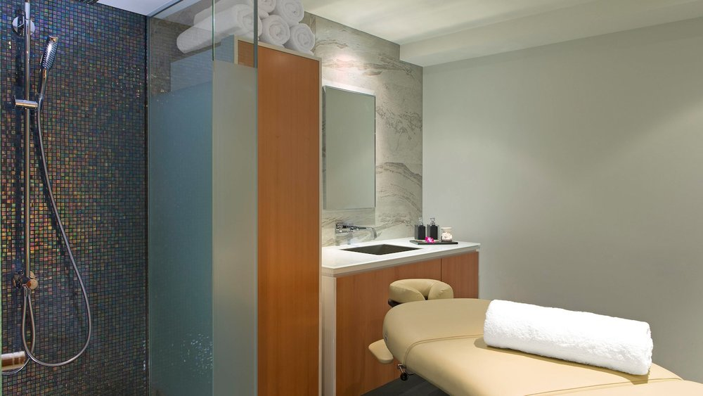 Single treatment room at the day spa