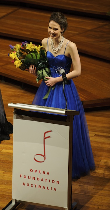 After winning the 2012 Lady Fairfax New York Award, Opera Foundation Australia