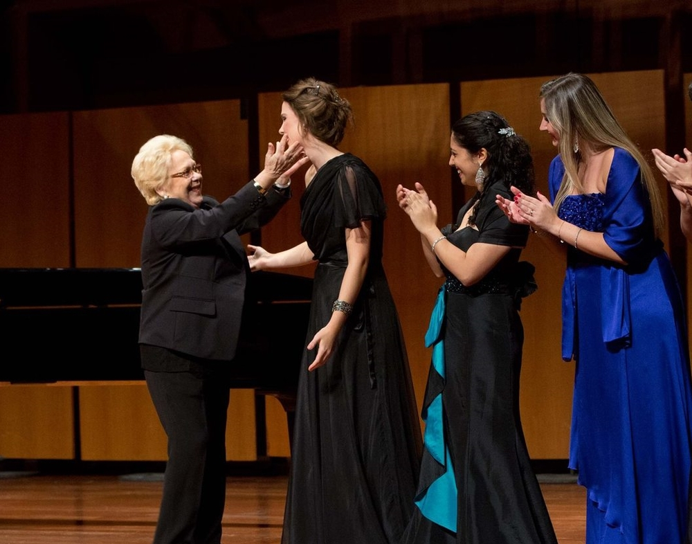"With Renata Scotto. "" Bel Canto"" Gala,   A  ccademia di Santa Cecilia,   October 2013"