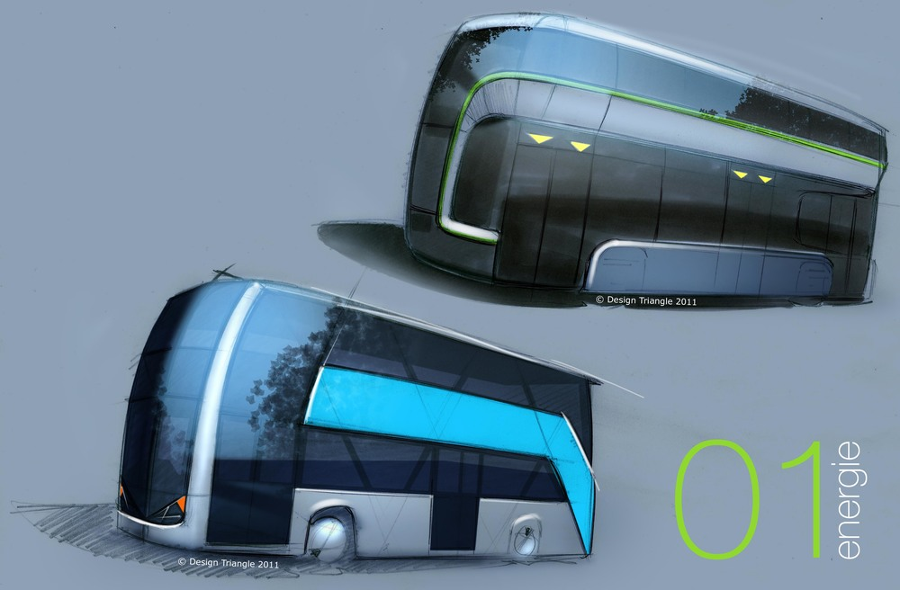 Design Triangle - Alexander Double Deck sketch design proposal