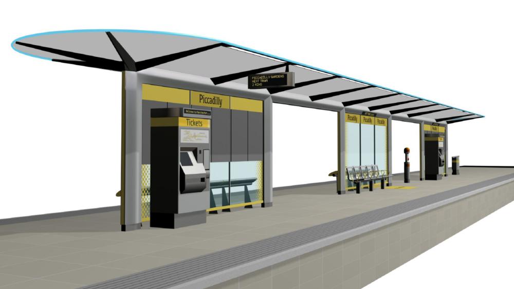 Design Triangle - Manchester Metrolink Tramstop architecture