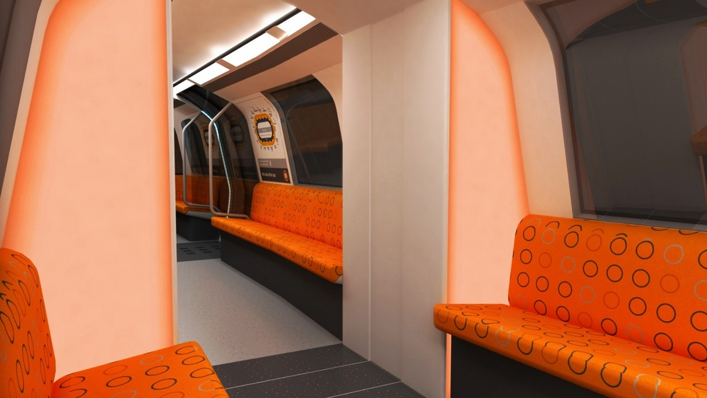 Design Triangle - Glasgow SPT underground train interior