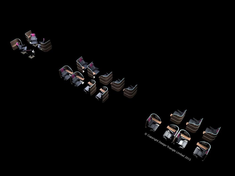 Design Triangle Heathrow Express Train First Class Interior 2006