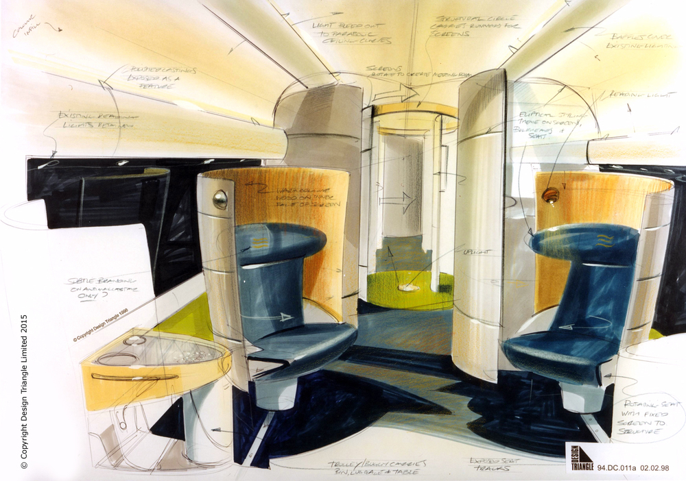 Design Triangle Eurostar VIP First Class Lounge rendering