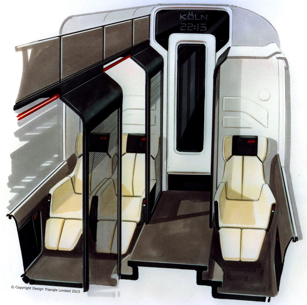 Design Triangle DB NachtExpress train interior concept