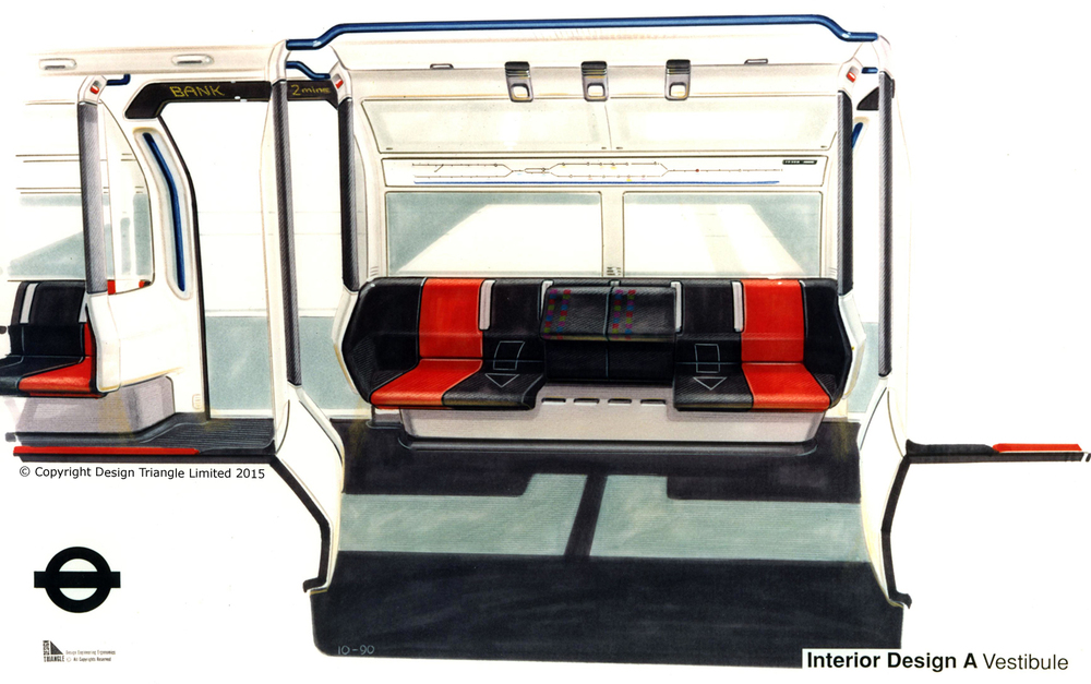 Design Triangle LUL Northern Line train interior concept