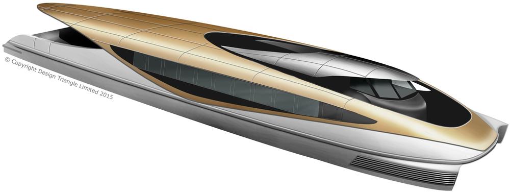 Design Triangle Damen RTA Water Bus ferry design