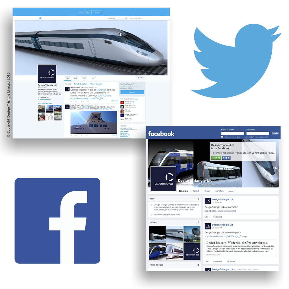 Design Triangle - Twitter & Facebook