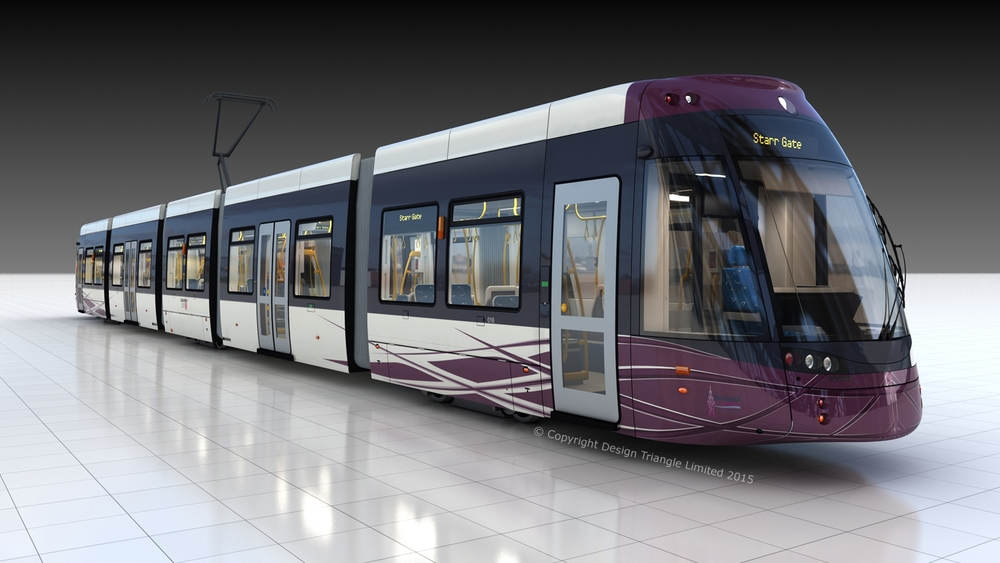 Design Triangle - Blackpool Tram - Photorealistic CAD rendering
