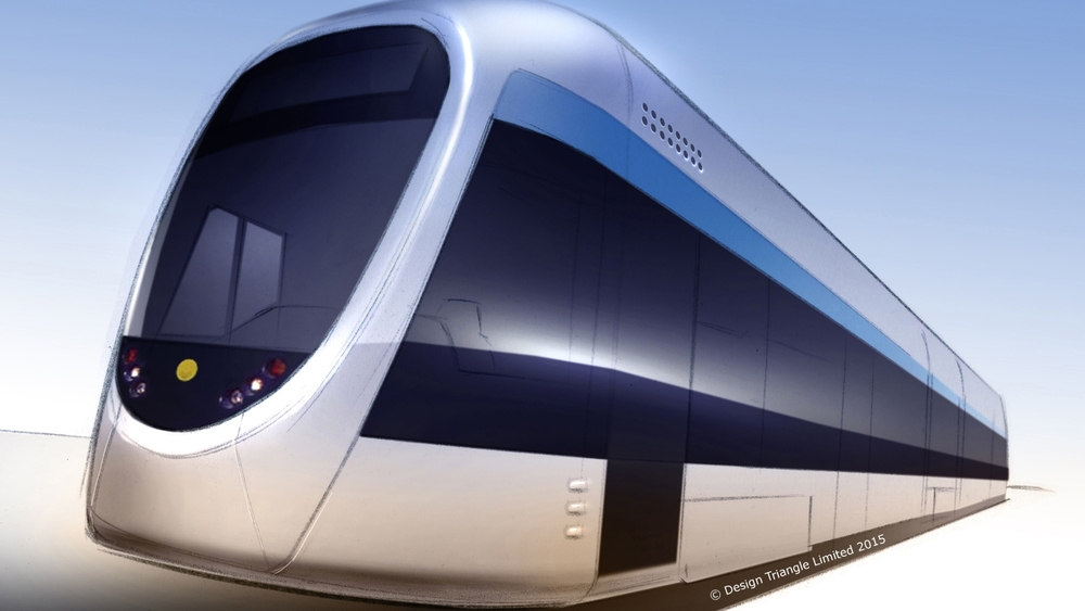 Design Triangle - Industrial Design - Athens Tram Exterior Styling concept  rendering