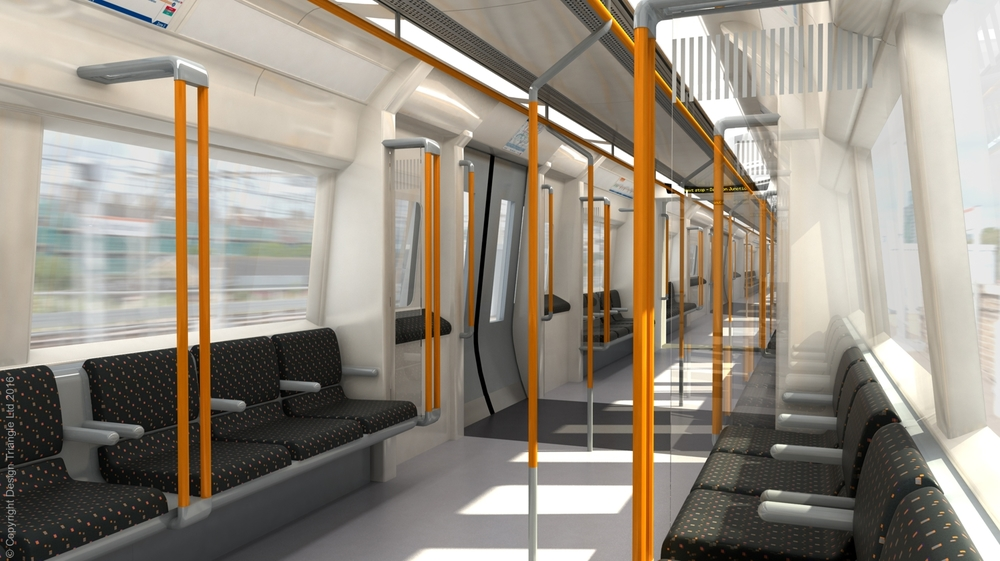 Design Triangle train interior design and visualisation for London Overground