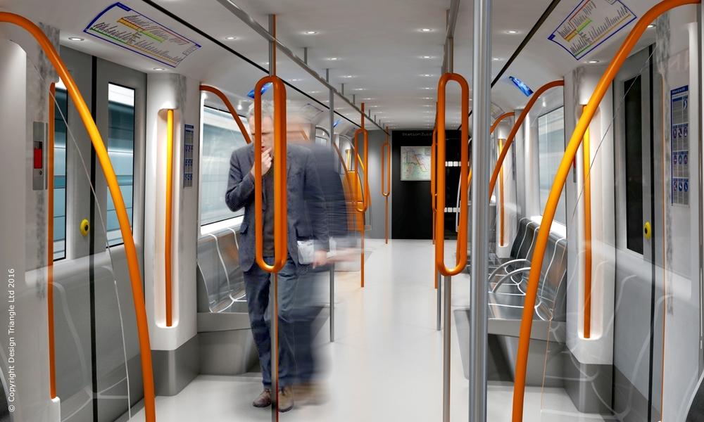 Interior design and ergonomics for AMSYS M5/M6 metro interiors