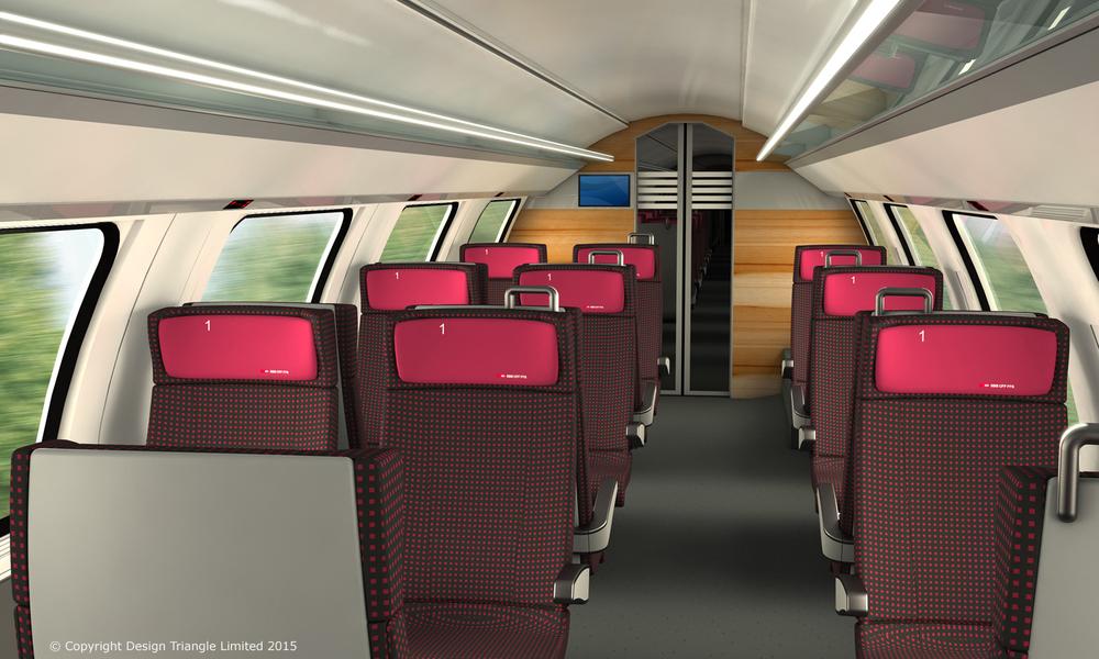 Design Triangle double-deck rail interior for SBB